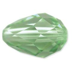 9x6mm Swarovski 5500 Tear Drop Beads - Peridot