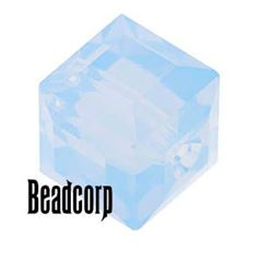 Swarovski 5601 Cube Crystal Beads - Air Blue Opal