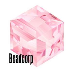 Swarovski 5601 Cube Crystal Beads - Light Rose