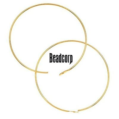 60mm Gold Filled Beading Hoops (1 pair)  14/20kt.
