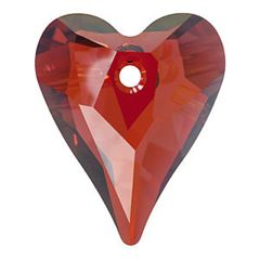 Swarovski Red Magma 6240 Wild Heart Pendant 27mm