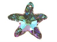 6721 - 40mm Swarovski Starfish Pendant - Vitrail Light