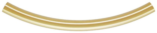 5x68mm Gold Filled Curved Plain Tube Beads