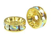 6mm Swarovski Gold Plated Rondells - (choose color)