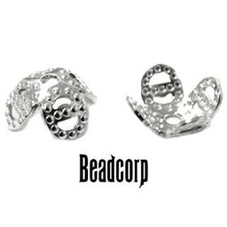 8mm Sterling Silver Tulip Cap 1 pc.