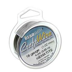 CRAFT WIRE 20GA ROUND 6YD SPL HEMATITE
