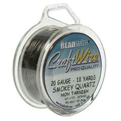 CRAFT WIRE 20GA ROUND 10YD SPL SMK QRTZ