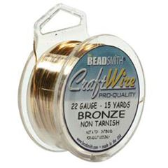 CRAFT WIRE 22GA ROUND 15YD SPL BRONZE