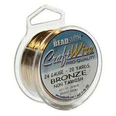CRAFT WIRE 24GA ROUND 20YD SPL BRONZE