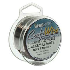 CRAFT WIRE 24GA ROUND 20YD SPL SMK QRTZ