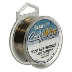 CRAFT WIRE 24GA ROUND 20YD SPL VINTAGE BRONZE