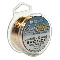 CRAFT WIRE 26GA ROUND 30YD SPL BRONZE