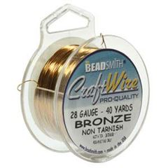 CRAFT WIRE 28GA ROUND 40YD SPL BRONZE