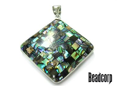 40mm Abalone Diamond Charm