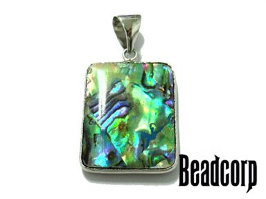 ABALONE PILLOW PENDANT 20X25MM