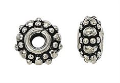8mm Sterling Silver Bali Bead b135