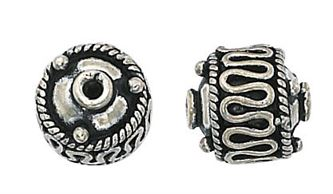 11mm sterling silver bali bead b2332