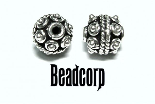 8mm Sterling Silver Bali Bead