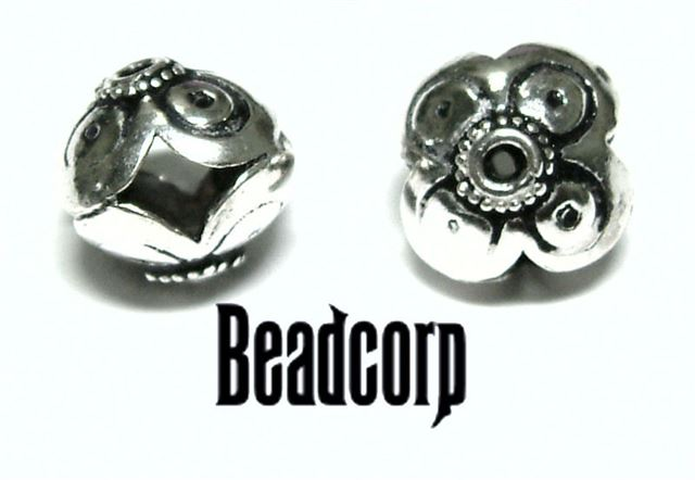 12mm Sterling Silver Bali Bead