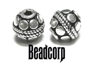 7mm Sterling Silver Bali Bead