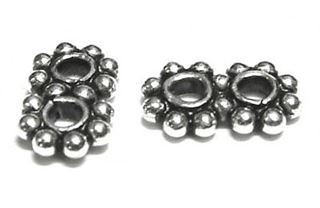 5mm Sterling Bali Daisy Spacer 2-hole