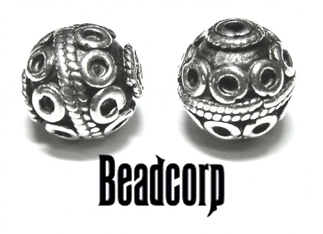 10mm sterling silver bali bead bb110