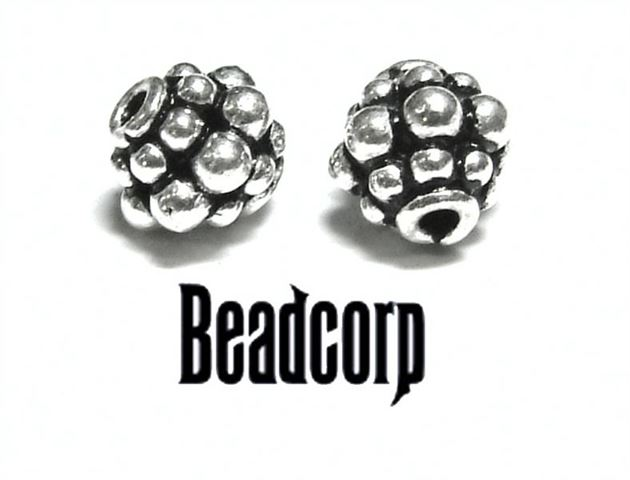 8mm Sterling Silver Bali Bead bb25