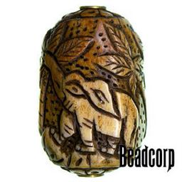 42x27mm Bone Focal Bead (Elephant)