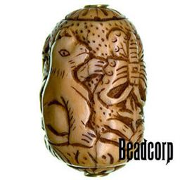 42x27mm Bone Focal Bead (Cat)
