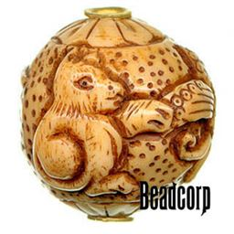 29x27mm Bone Focal Bead (Squirrel)
