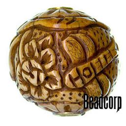 29x27mm Bone Focal Bead (Dragon Fly)