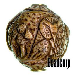 29x27mm Bone Focal Bead (Owl)