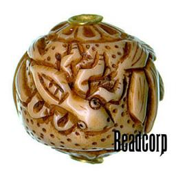 29x27mm Bone Focal Bead (Grasshopper)