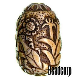 42x27mm Bone Focal Bead (Preying Mantis)