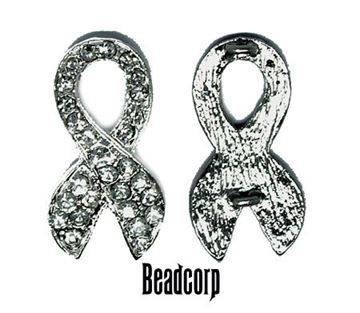 33x18mm Awareness Ribbon Double Loops (Nickel)