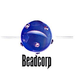 Royal Blue Cat Eye Rhinestone Bead
