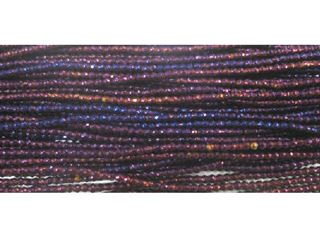 2mm Purple Coated Hematite Faceted Beads 16