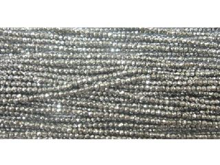 2mm White Gold Coated Hematite Faceted Beads 16