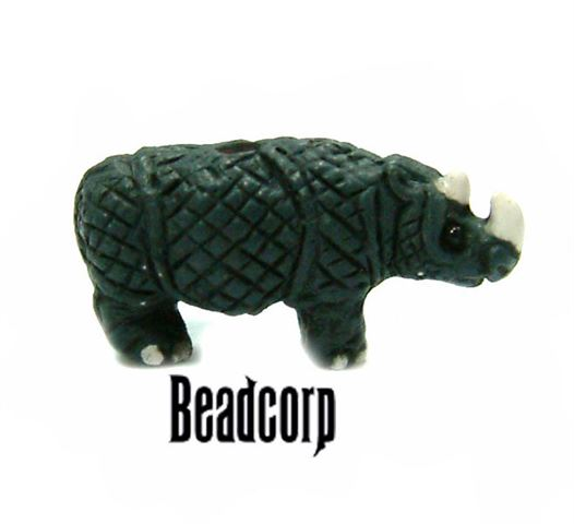 Ceramic Rhinosaurus Beads 17mm