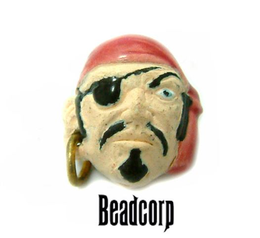 14mm Ceramic Pirate Head Bead