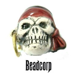 12mm Ceramic Skull Bead