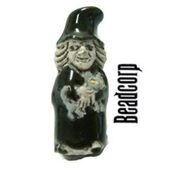 8mm Ceramic Witch Bead