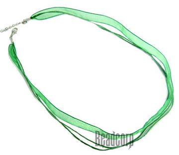 Green Chiffon Ribbon Necklace Cords - 16-18