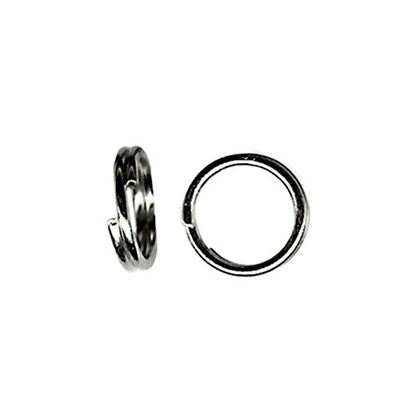 6mm Split Rings - Gun Metal - 50 pcs.