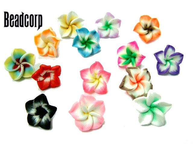 15mm Fimo Flower Beads 25 pcs.