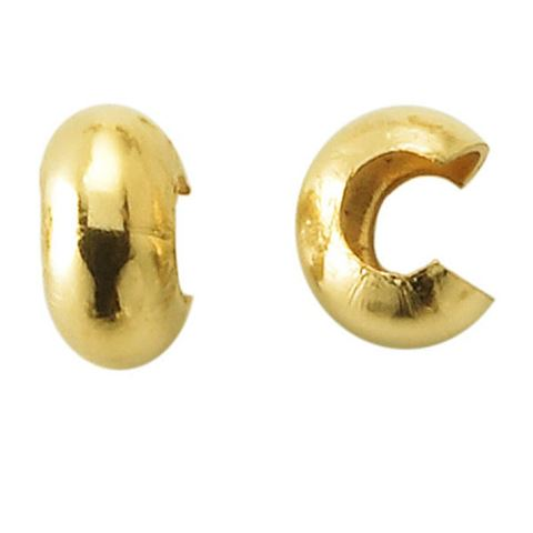 3mm Gold Filled Crimp Covers 10 pcs.