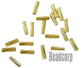 4x1mm Gold Filled Twisted Spacer Tube Beads