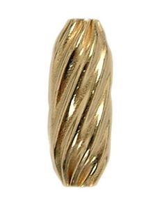 13x5mm Gold Filled Twisted Tube Beads 14/20kt.
