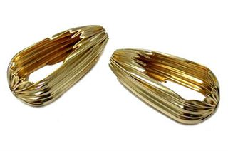 15x30mm Gold Filled Corrugated Open Tear Drop Beads 14/20kt.