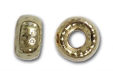 4mm Gold Filled Precision Cut Roundel Beads 14kt. (Dimpled)
